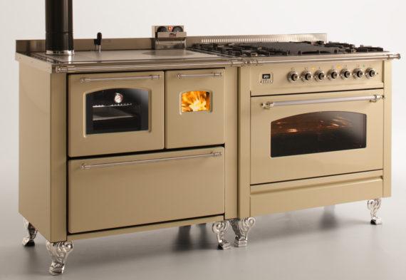 Abbinamenti gas legna cucine stufe a legna e termocucine for Vendita cucine a legna usate