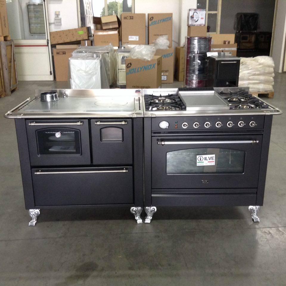 Abbinamento da 180 nero mat cucine stufe a legna e - Cucine a legna e gas ...